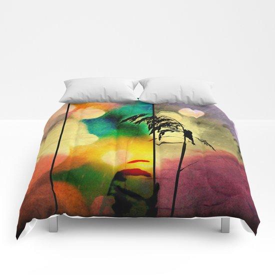 Rainbow Grass Diamond  Comforters