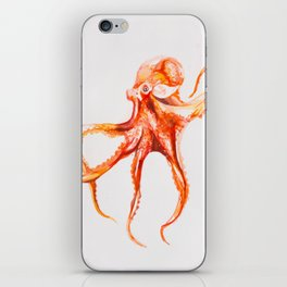 Watercolor Octopus iPhone Skin