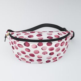 Watercolor Dots // Cardinal Red Fanny Pack
