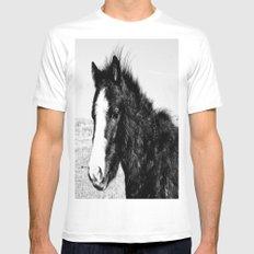 Mini Horse (2) White Mens Fitted Tee MEDIUM