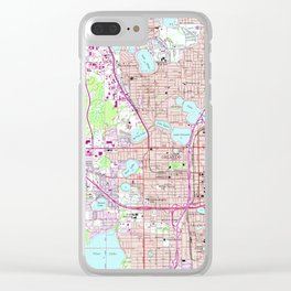 Vintage Map of Western Orlando Florida (1956) Clear iPhone Case