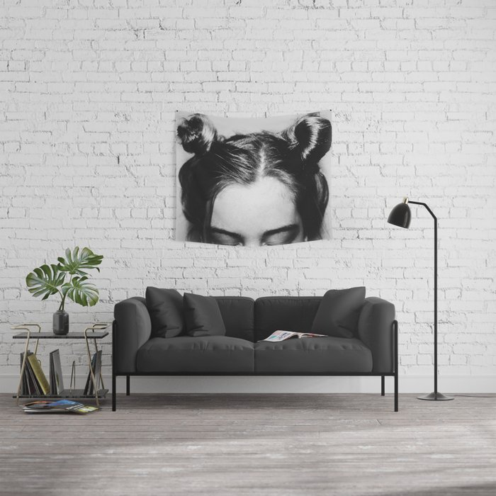 Space Buns Wall Tapestry