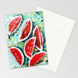 watermelon acrylic art Stationery Cards