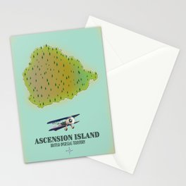 Ascension island british overseas territory map Stationery Cards
