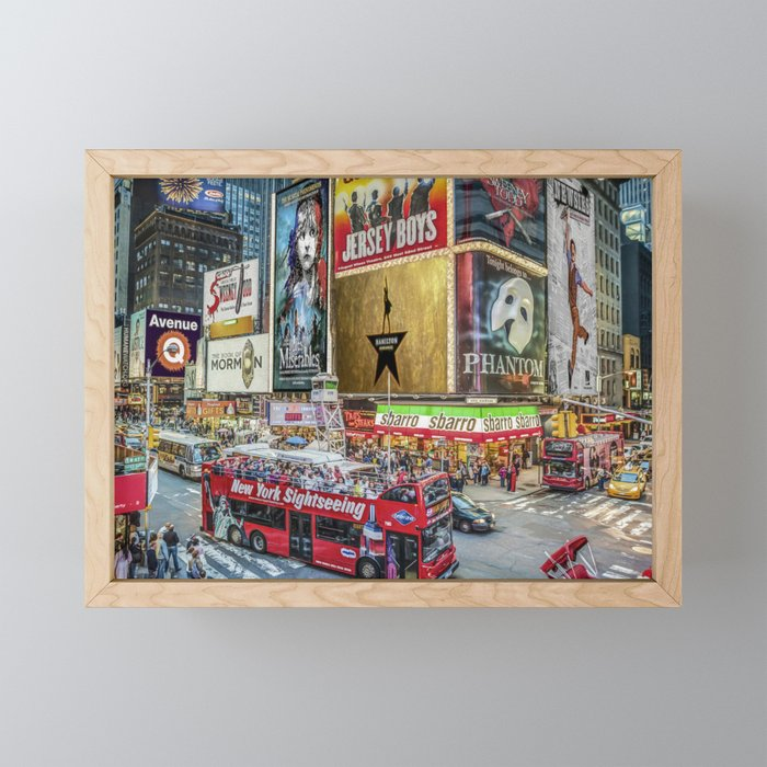 Times Square II Special Edition I Framed Mini Art Print
