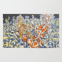 inception Area & Throw Rugs featuring Concerted Inception by Eric Walker