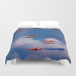 Red Arrows In The Sky Duvet Cover