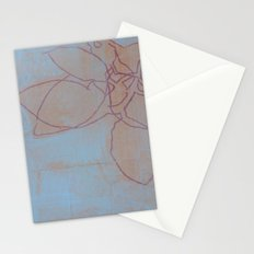 Leaves in Blue II Stationery Cards