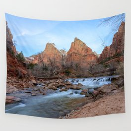 Virgin_River Falls - Zion Court Wall Tapestry