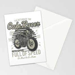 Caferacer Motorcycle Vintage Poster Stationery Cards