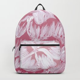 White Dahila over Pink Ombre Backpack
