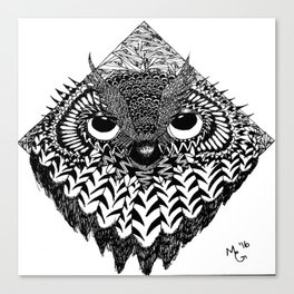 Owl Head Canvas Print