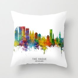 The Hague Netherlands Skyline Throw Pillow