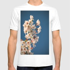 Awesome Blossom. White MEDIUM Mens Fitted Tee