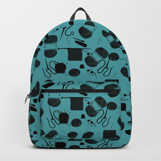 yarn teal Backpack