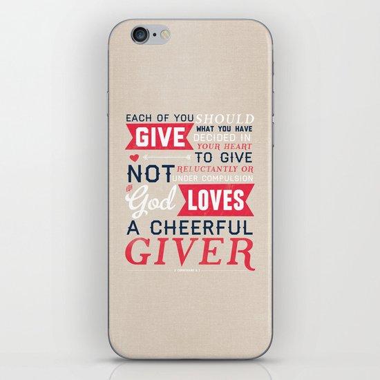 2 Corinthians 9:7 iPhone & iPod Skin
