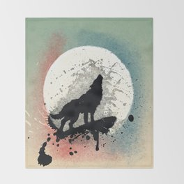 The Wolf Throw Blanket