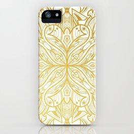 Gold in Mandala iPhone Case