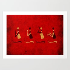 Forms of Prayer - Red Art Print