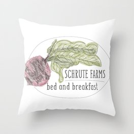 schrute b&b Throw Pillow