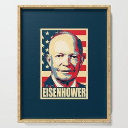 Eisenhower Propaganda Pop Art Serving Tray
