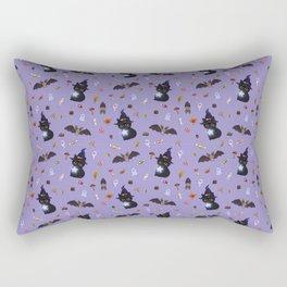 The Halloween Witch Kitten Rectangular Pillow