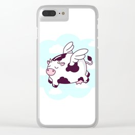Flying Cow Clear iPhone Case
