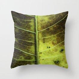 Leaf Nine Throw Pillow