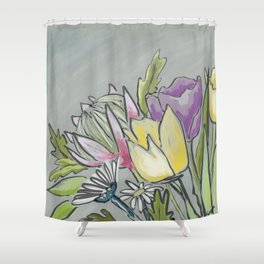 Protea bouquet Shower Curtain
