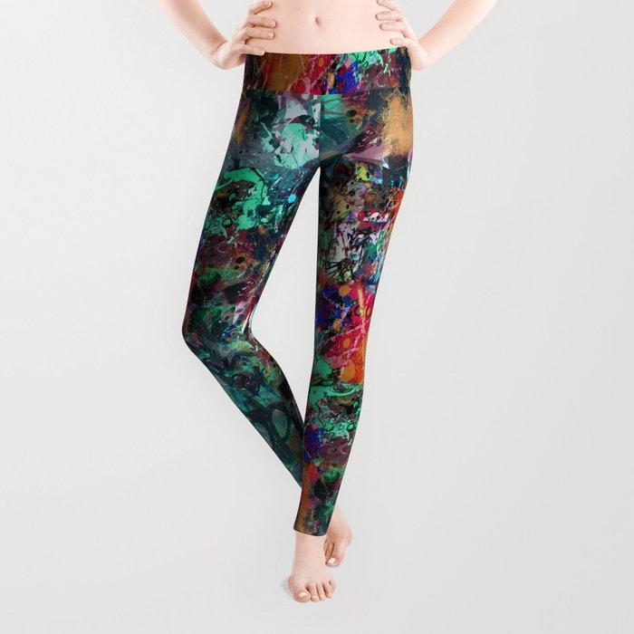 Graffiti and Paint Splatter Leggings