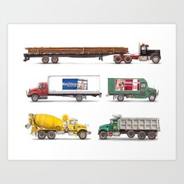 Trucks & Trailer Art Print