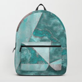 Gemstone And Geode Triangles Backpack