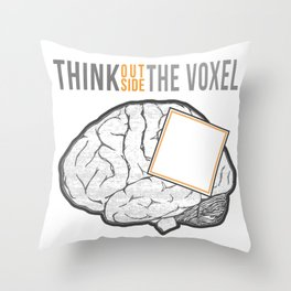 Think Outside the Voxel Throw Pillow