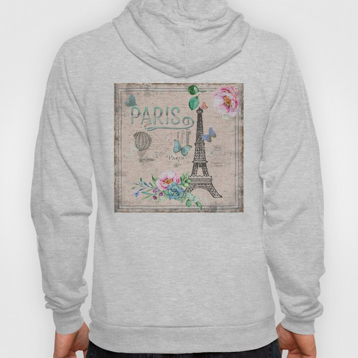 Paris - my love - France Nostalgy - pink French Vintage Hoody