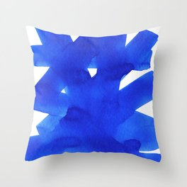 Superwatercolor Blue Throw Pillow