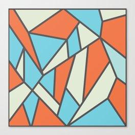 Geometric Colour Pattern V3 Canvas Print