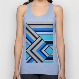 Retro . Combined stripes . Unisex Tank Top
