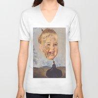 salvador dali V-neck T-shirts featuring Salvador Dali by Raven Ellis