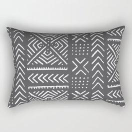 Line Mud Cloth // Charcoal Rectangular Pillow