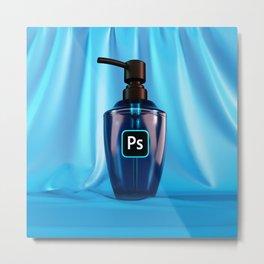 Adobe Photoshop Hand Wash Metal Print