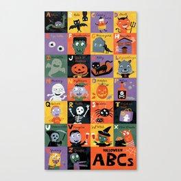 Halloween ABCs Canvas Print