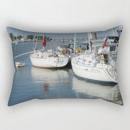 Poquoson River Boats Rectangular Pillow