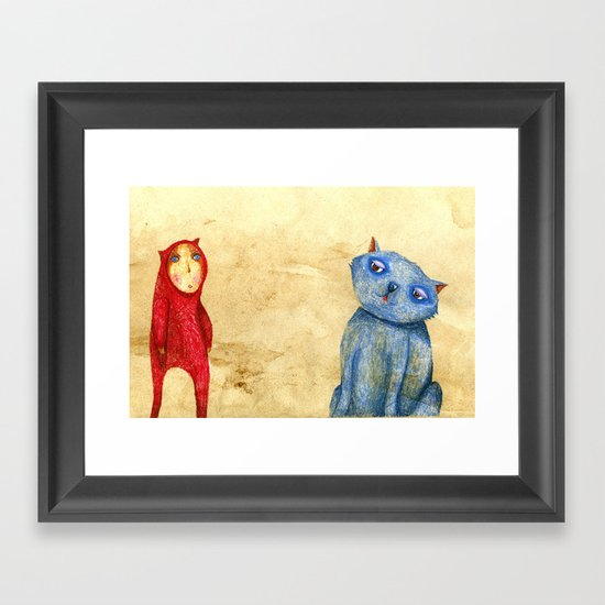 Callas and Tomma Framed Art Print