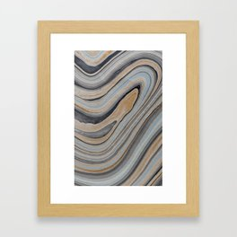 Marbled Framed Art Print