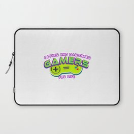 Father and Daughter Gamers For Life Laptop Sleeve