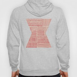 Digital Stitches whole beige + red Hoody