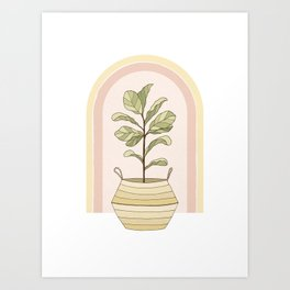Figgle Leaf Tree Art Print