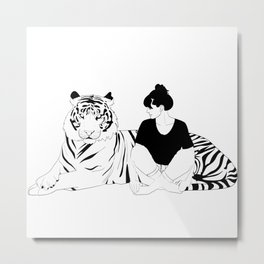 Tiger  Lady Metal Print