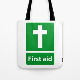 First Aid Cross - Christian Sign Illustration Tote Bag