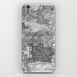 Vintage Map of Vancouver Canada (1920) BW iPhone Skin
